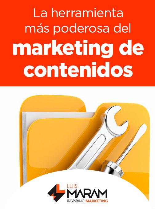No son las redes sociales y ni siquiera el contenido, la herramienta más poderosa del marketing de contenidos es...