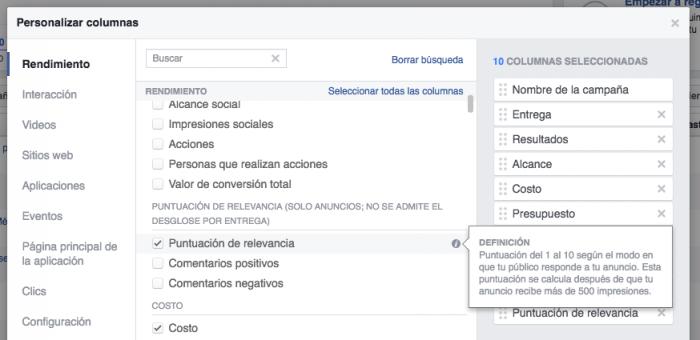 Evaluar tus anuncios de Facebook