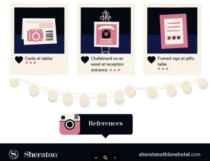 Consejos del Sheraton para usar instagram en boda