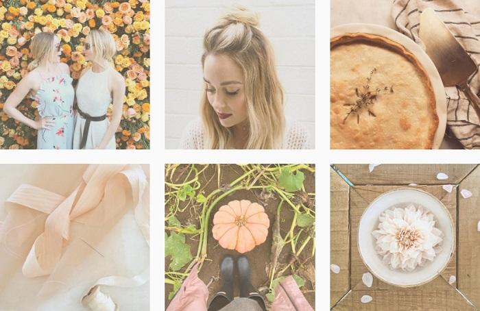 Ejemplo uso del mismo filtro en Instagram por Lauren Conrad