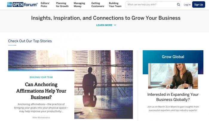 Ejemplo marketing de contenidos - OpenForum
