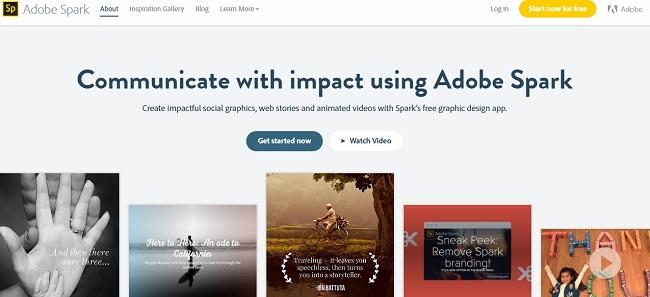 Adobe Spark para crear videos