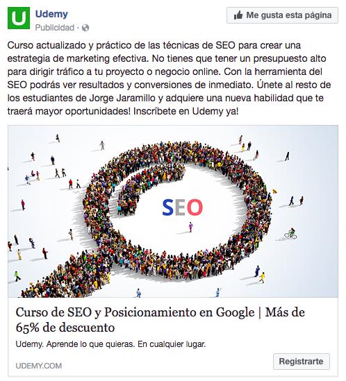 Anuncios de Facebook para ganar clientes