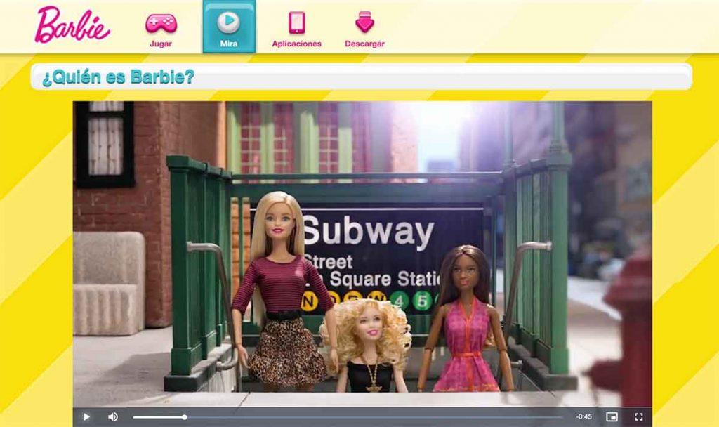 Barbie, un ejemplo de marketing de contenidos